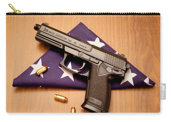Folded Flag And Pistol 01 Carry-all Pouch