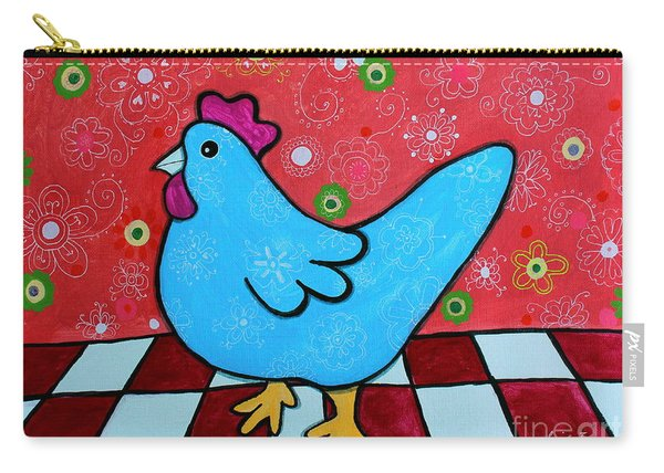 Folk Art Rooster Carry-all Pouch