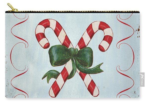 Folk Candy Cane Carry-all Pouch