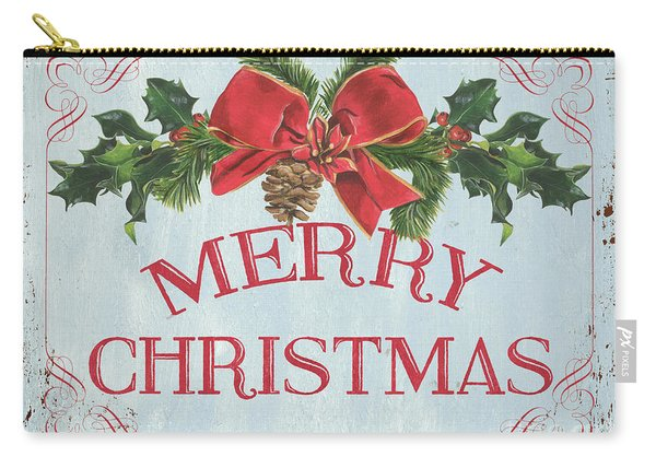 Folk Merry Christmas Carry-all Pouch
