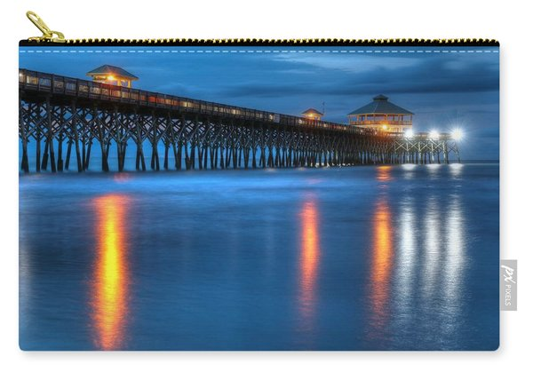 Folly Beach Pier At Blue Hour Charleston South Carolina Carry-all Pouch