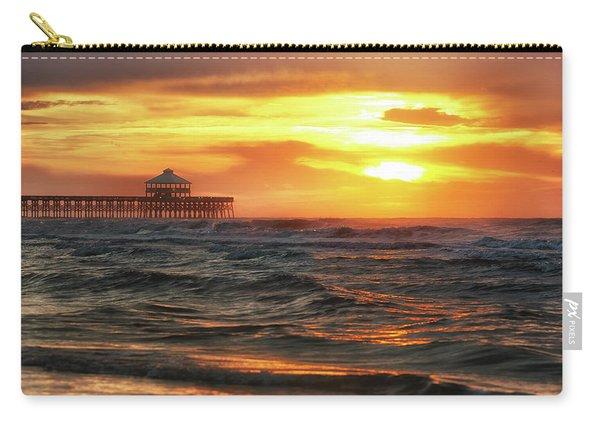 Folly Beach Pier Sunrise Carry-all Pouch