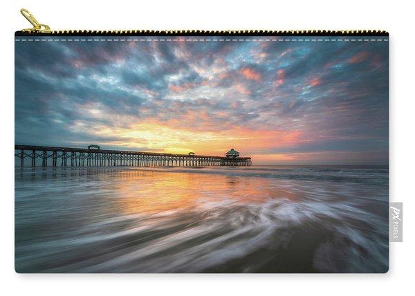 Folly Beach Sc Ocean Seascape Charleston South Carolina Scenic Landscape Carry-all Pouch