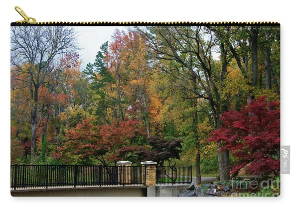Foot Bridge In The Fall Carry-all Pouch