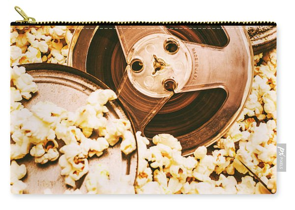 Footage From An Antique Motion Picture Carry-all Pouch