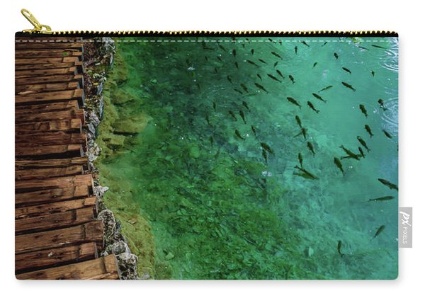 Footpaths And Fish - Plitvice Lakes National Park, Croatia Carry-all Pouch