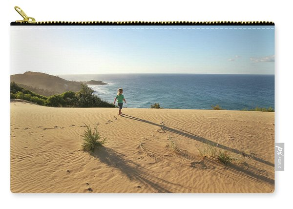 Footprints In The Sand Dunes Carry-all Pouch