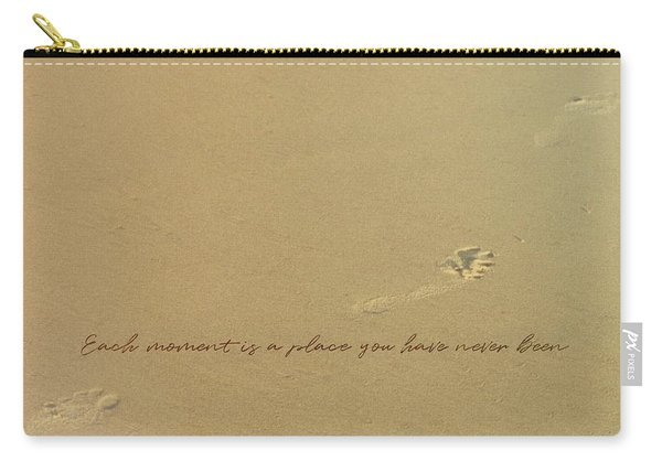 Footprints Quote Carry-all Pouch