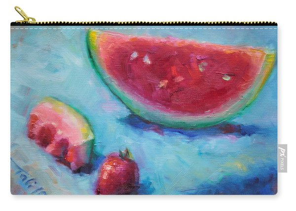 Carry-all Pouch featuring the painting Forbidden Fruit by Talya Johnson