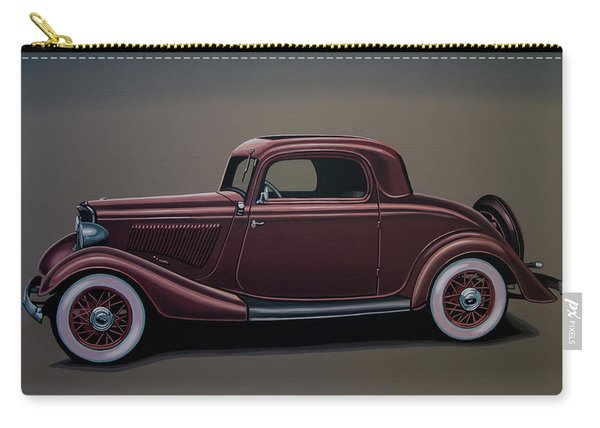 Ford 3 Window Coupe 1933 Painting Carry-all Pouch