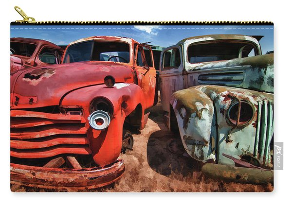 Ford And Chevy Standoff Carry-all Pouch