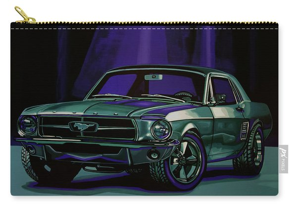 Ford Mustang 1967 Painting Carry-all Pouch
