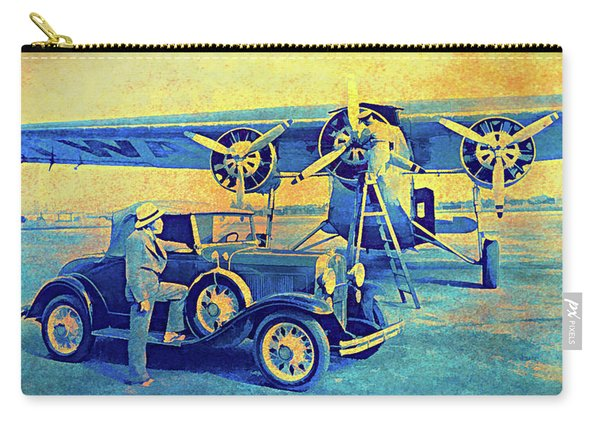 Ford Trimotor And 1931 Model A Roadster Carry-all Pouch