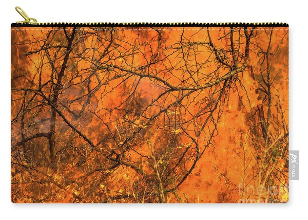Carry-all Pouch featuring the photograph Forest Fire by Benny Marty