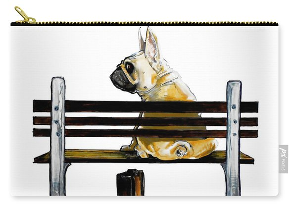 Forest Gump French Bulldog Caricature Art Print Carry-all Pouch