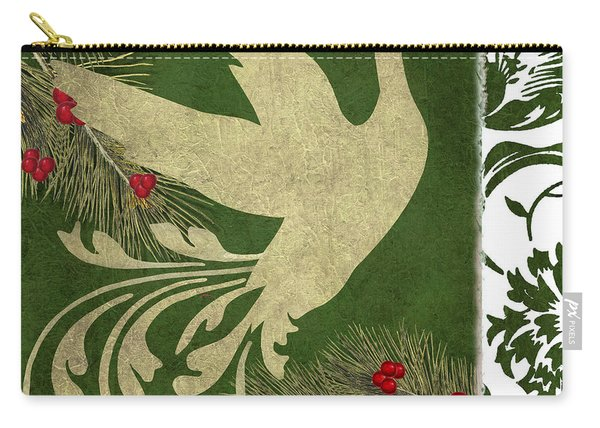 Forest Holiday Christmas Goose Carry-all Pouch