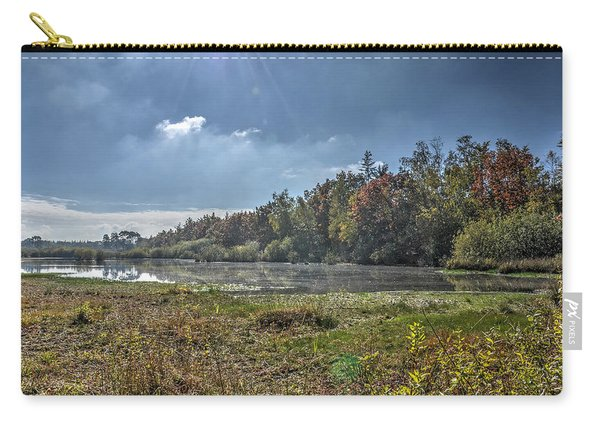 Forest Lake In Autumn Carry-all Pouch