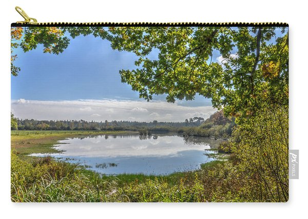 Forest Lake Through The Trees Carry-all Pouch