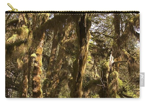 Forest Setting In Hoh Rain Forest Carry-all Pouch