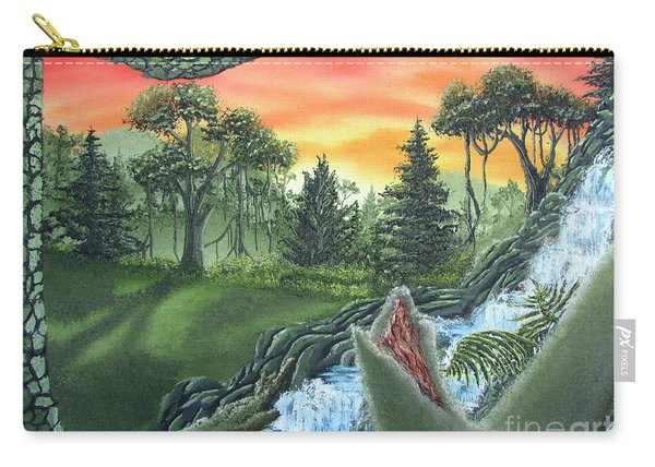 Forest Sunset Cascade Carry-all Pouch