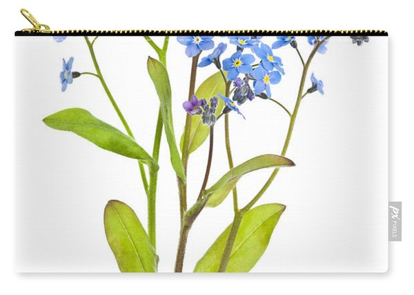 Forget-me-not Flowers On White Carry-all Pouch