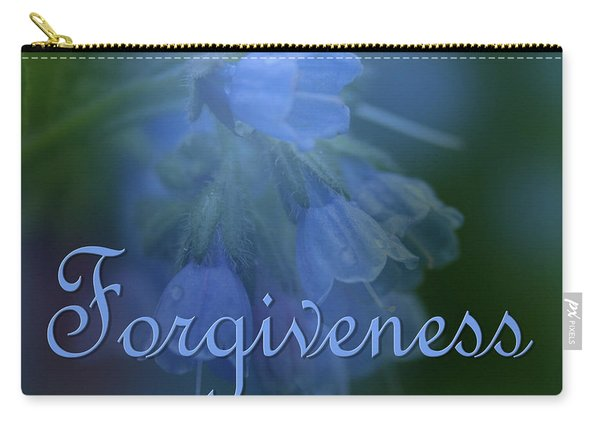 Forgiveness Blue Bells Carry-all Pouch