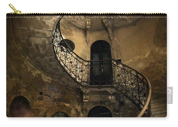 Carry-all Pouch featuring the photograph Forgotten Staircase by Jaroslaw Blaminsky