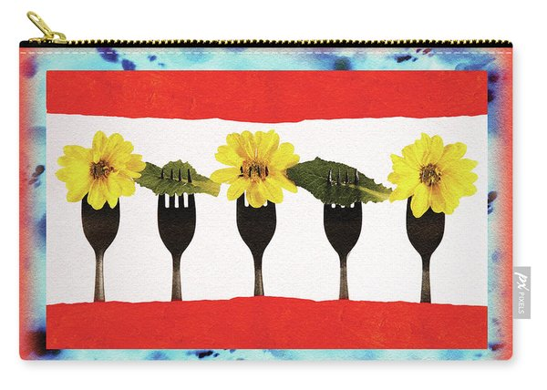 Forks And Flowers Carry-all Pouch