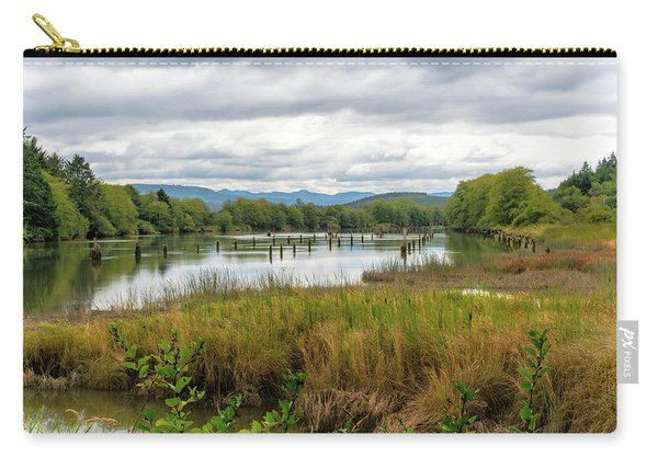 Carry-all Pouch featuring the photograph fort Clatsop on the Columbia River by Michael Hope