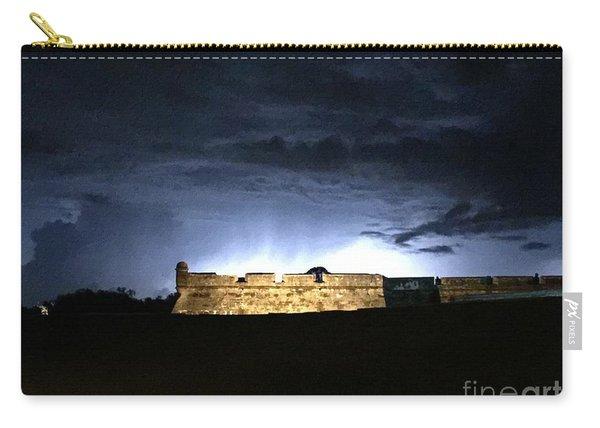 Lightening At Castillo De San Marco Carry-all Pouch