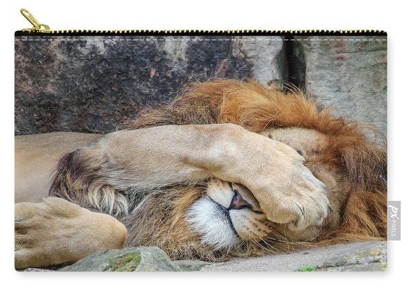 Fort Worth Zoo Sleepy Lion Carry-all Pouch