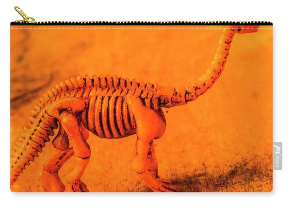 Fossilised Exhibit In Toy Dinosaurs Carry-all Pouch