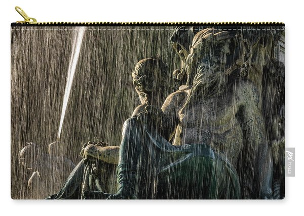 Fountain At Rossio Square Carry-all Pouch