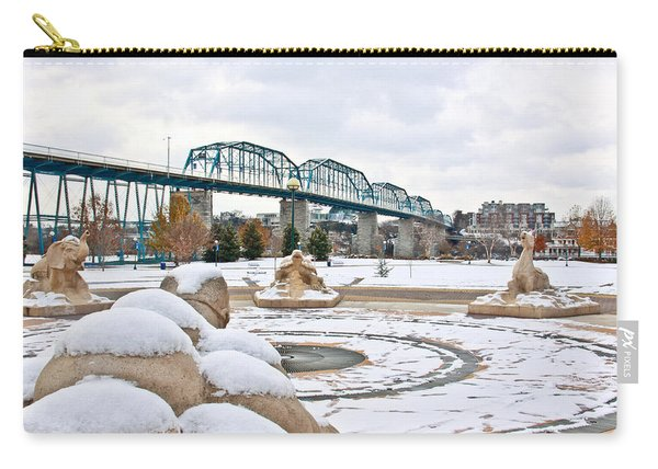 Fountain In Winter Carry-all Pouch