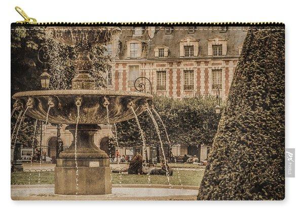 Paris, France - Fountain, Place Des Vosges Carry-all Pouch