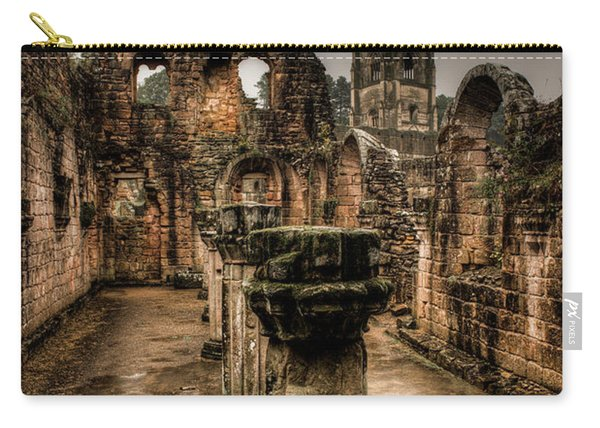 Fountains Abbey In Pouring Rain Carry-all Pouch