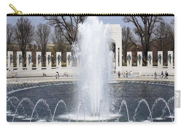 Fountains At The World War II Memorial In Washington Dc Carry-all Pouch