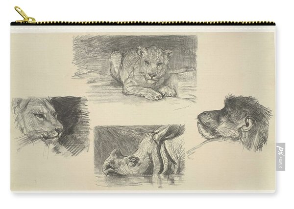 Four Animals, August Allebe, 1848 - 1927 Carry-all Pouch