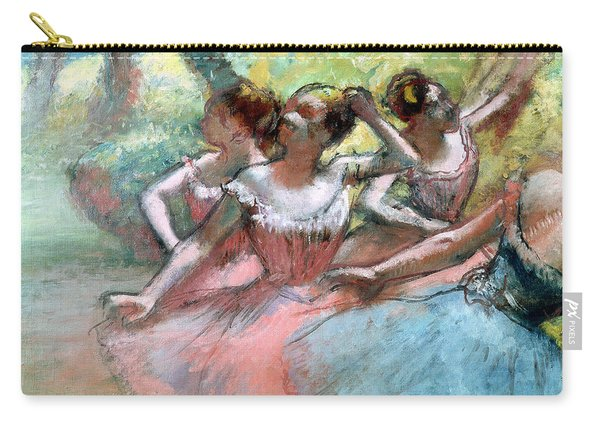 Four Ballerinas On The Stage Carry-all Pouch