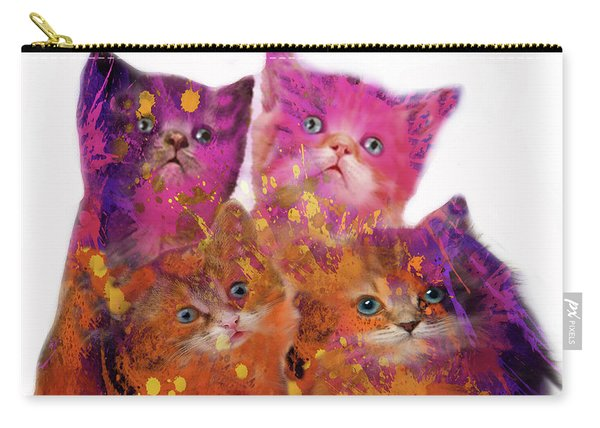 Four Cute Kittens  Carry-all Pouch