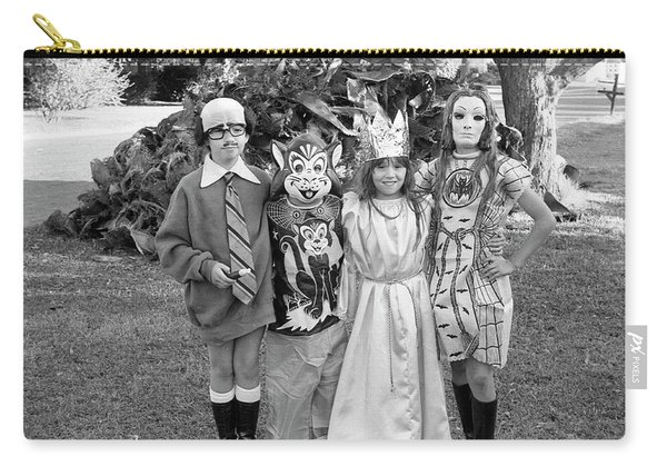 Four Girls In Halloween Costumes, 1971, Part One Carry-all Pouch