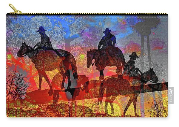 Carry-all Pouch featuring the digital art Four Horsemen by Visual Artist Frank Bonilla