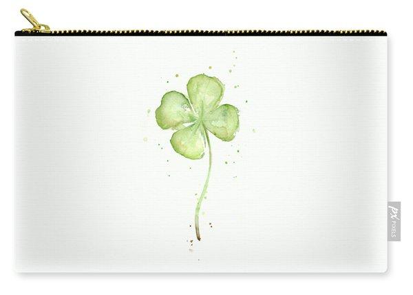 Four Leaf Clover Lucky Charm Carry-all Pouch