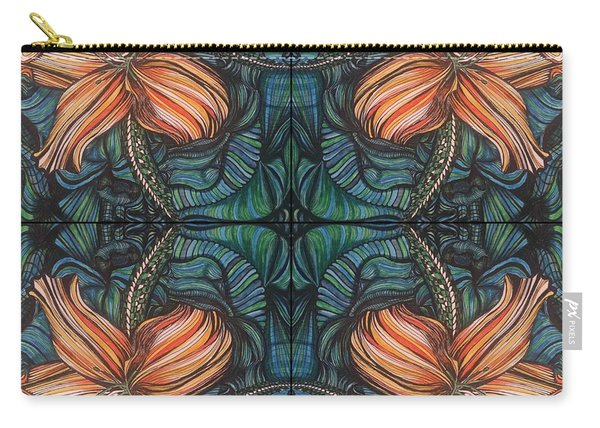 Four Lilies Leaf To Leaf Carry-all Pouch