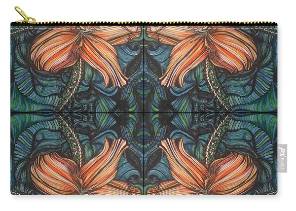 Four Lilies Looking In Carry-all Pouch