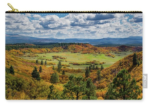 Carry-all Pouch featuring the photograph Four Mile Road Peak Color by Jason Coward