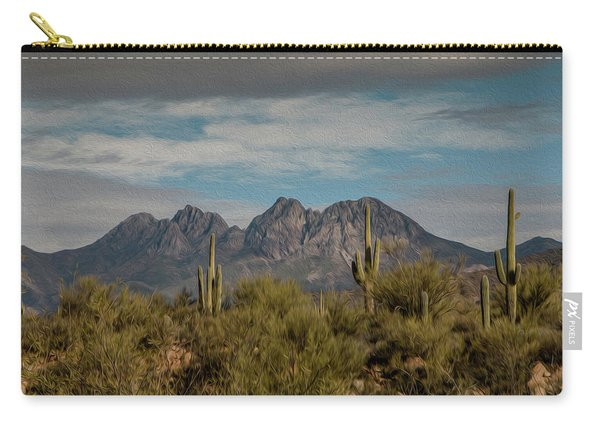 Four Peaks Painterly Carry-all Pouch