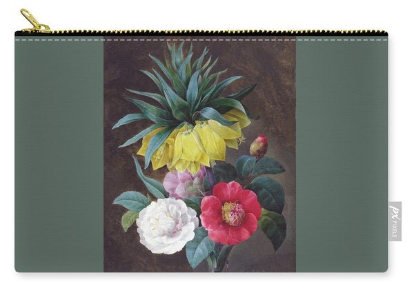 Four Peonies And A Crown Imperial Carry-all Pouch