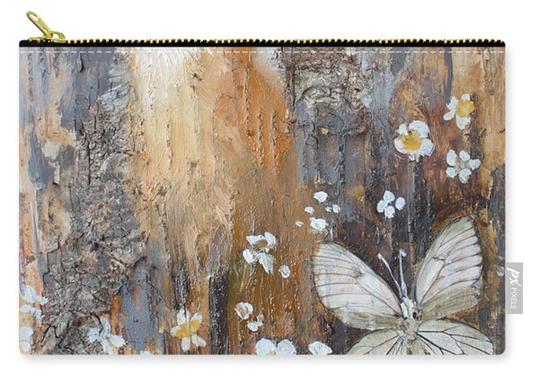Fox And Butterfly Carry-all Pouch