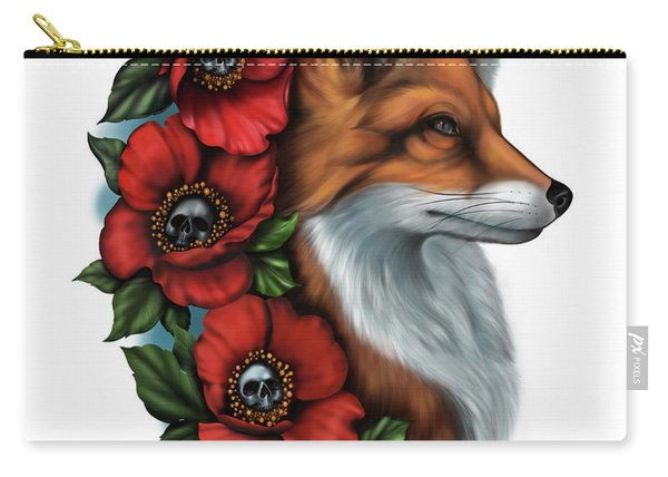 Fox And Poppies Carry-all Pouch
